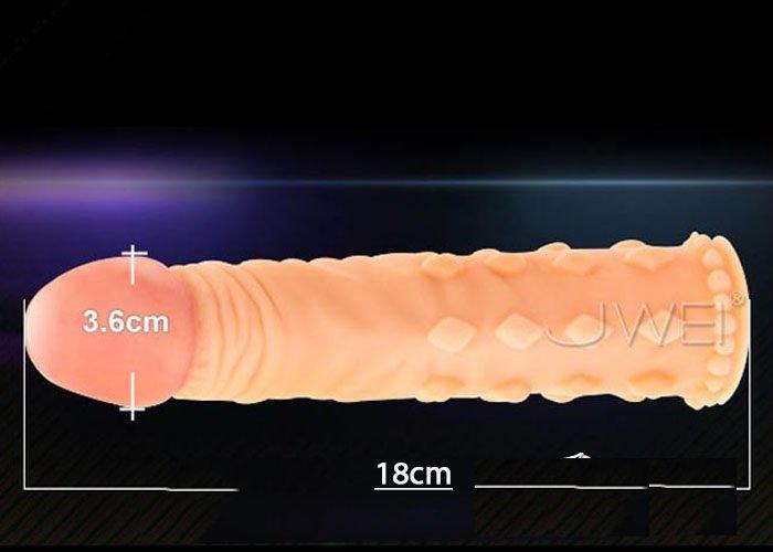 Kích thước Bao cao su đôn dên 5 phân gân gai siêu mềm