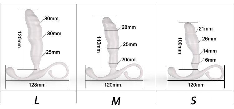 Hình ảnh Kích thước Dụng cụ kích hậu massage hậu môn lưỡi neo