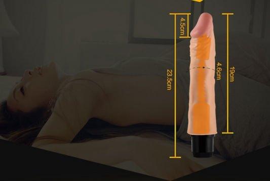 Dương vật giả silicon Real Feel Flexi 9,5 inch chi tiết