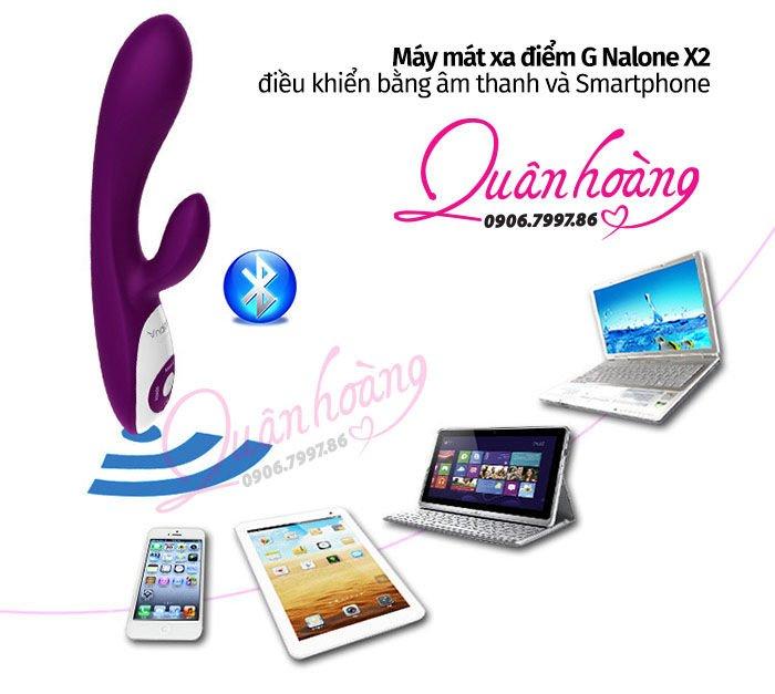 Máy rung Nalone X2 có điều khiển âm thanh qua Smartphone