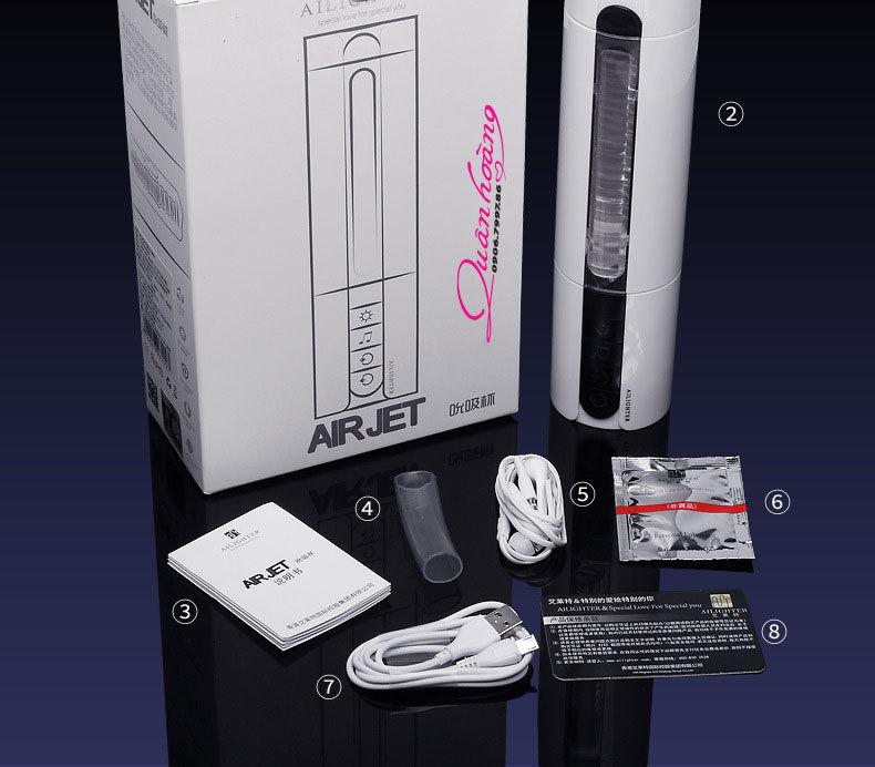 Full hộp máy bú cu cao cấp Ailighter AIRJET tỏa nhiệt rung thụt siêu mạnh
