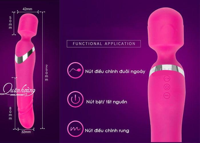 Thông tin chi tiết Máy rung tình dục 2 đầu Luxelux