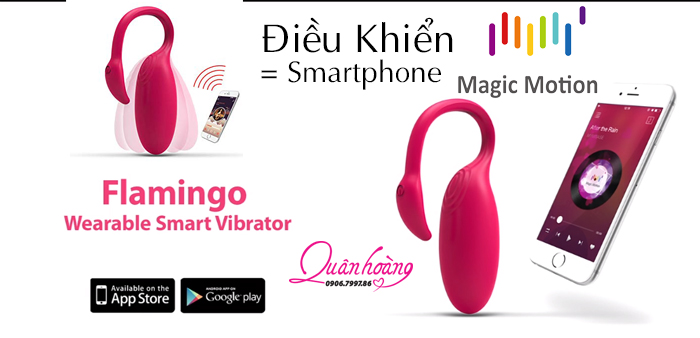 Trứng rung điều khiển bằng diện thoại smartphone Magic Motion Flamingo sử dụng